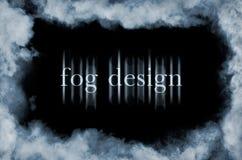 Nebbia sul nero Immagini Stock Libere da Diritti