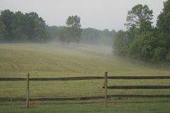 Nebbia sull'azienda agricola Fotografie Stock