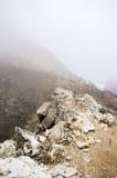 Nebbia sulla cresta della montagna Immagine Stock Libera da Diritti