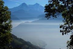 Nebbia Svizzera della montagna di Jungfrau Immagine Stock Libera da Diritti