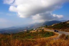 Nebbio road in corsica island Royalty Free Stock Photos