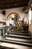 Nebel教会Amrum的 免版税库存图片