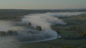 Nebel über dem Fluss stock footage
