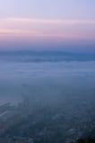 Nebel über der Bucht Lizenzfreies Stockfoto