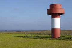 Nebel (Amrum) - огонь маяка Стоковые Изображения