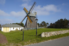 Nebel (Amrum) - moinho de vento Imagem de Stock Royalty Free