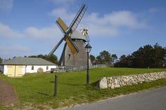 Nebel (Amrum) - molino de viento Imagen de archivo libre de regalías