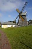 Nebel (Amrum) - molino de viento Fotografía de archivo