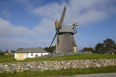 Nebel (Amrum) - Wind mill Stock Photo
