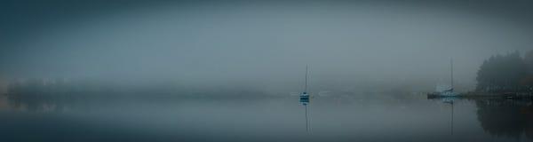 Nebel auf der Bucht Stockfotos