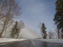 Nebel auf der Straße Lizenzfreies Stockfoto
