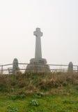 Nebel auf Flodden-Monument Stockfotos