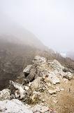 Nebel auf Gebirgsrücken Lizenzfreies Stockbild
