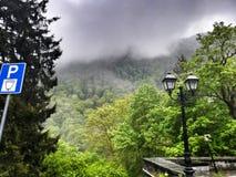 Nebel, Berg, Natur, Rila-Kloster stockfotografie
