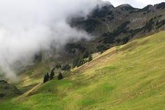 Nebel in den Sommerbergen Lizenzfreies Stockbild