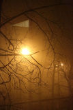 Nebel in der Stadt Stockfotografie