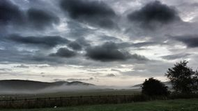 Nebel frühen Morgens Abington Lizenzfreies Stockbild