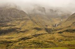 Nebel in Glencoe stockfotos