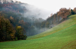 Nebel im Herbst Lizenzfreies Stockbild