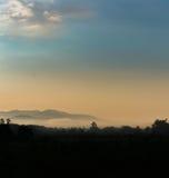 Nebel im Tal Lizenzfreies Stockbild