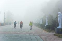 Nebel in Kiew Lizenzfreie Stockfotos