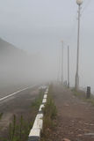 Nebel in Listvyanka auf dem Baikalsee Lizenzfreies Stockbild