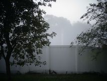 Nebel morgens Stockfotografie