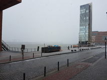 Nebel. Wand creepy Hamburg stock photo