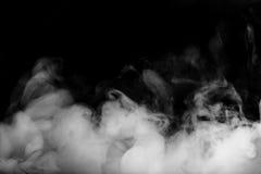 Nebel- oder Rauchverschiebung auf schwarzem Farbhintergrund Lizenzfreie Stockfotos