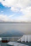 Nebel Rolls in Kanada innerhalb der Durchgangs-Passagier-Schiffs-Fähre Lizenzfreies Stockfoto