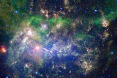 Nebelfleck im schönen endlosen Universum Ehrfürchtig für Tapete und Druck vektor abbildung