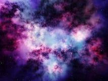 Nebelfleck im Weltraum mit Sternen Lizenzfreie Stockfotos