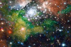 Nebelfleck und Galaxien im Raum Elemente dieses Bildes geliefert von der NASA lizenzfreies stockbild