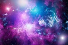 Nebelfleck und Galaxien im Raum Elemente dieses Bildes geliefert von der NASA Lizenzfreies Stockfoto