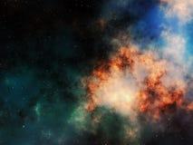 Nebelfleck und Sterne im Weltraum Stockbild