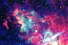 Nebelfleck und Sterne im Weltraum stockbilder