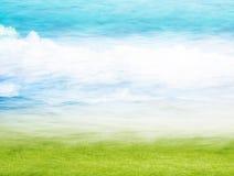 Nebelhafte Frühlings-Landschaft Lizenzfreies Stockfoto