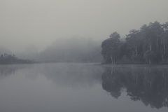 Nebelhafte Landschaft Lizenzfreies Stockfoto