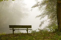 Nebelhafte Landschaft Lizenzfreie Stockfotografie