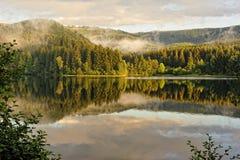 Nebelhafte Landschaft in Sösestausee Lizenzfreies Stockfoto
