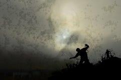 Nebelhafte Zombies 1 stock abbildung