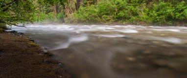 Nebelhafter flüssiger Nebenfluss Lizenzfreie Stockfotografie