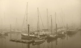 Nebelhafter Hafen Lizenzfreies Stockfoto