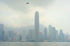 Nebelhaftes Hong Kong Stockbilder