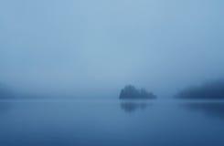 Nebelhaftes Ufer Stockbild