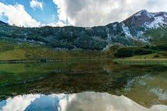 Nebelhorn озера гор стоковые изображения rf