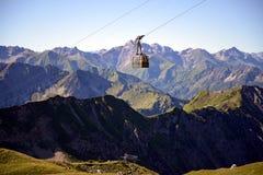 Nebelhorn. Cable car of the Nebelhorn (Foghorn) near Oberstdorf, Allgaeu Alps, South-Germany Stock Images