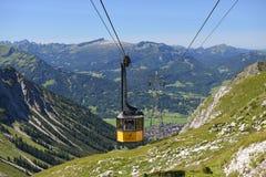 Nebelhorn. Cable car of the Nebelhorn (Foghorn) near Oberstdorf, Allgaeu Alps, South-Germany Royalty Free Stock Photography