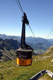 Nebelhorn. Cable car of the Nebelhorn (Foghorn) near Oberstdorf, Allgaeu Alps, South-Germany Royalty Free Stock Photos