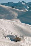 Nebelhorn Allgäu Alps. Nebelhorn ski resort in the Allgäu Alps, southern Germany royalty free stock photo